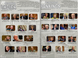 Cassidy Associates Senate Committee leadership infographic